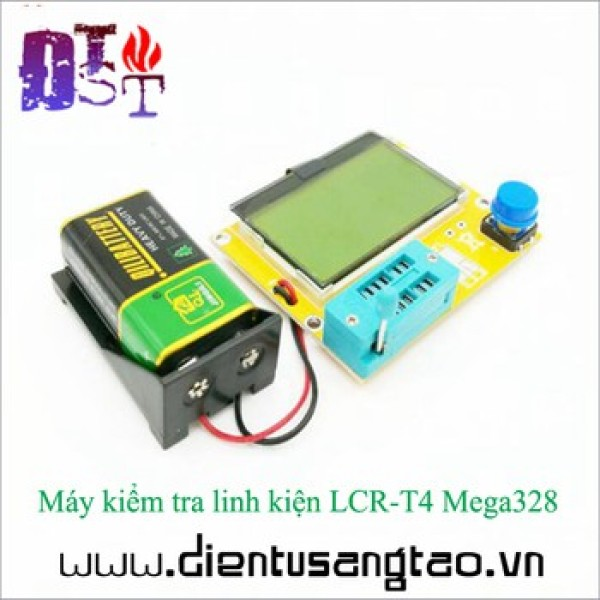 Bảng giá Máy kiểm tra linh kiện LCR-T4 Mega328 Tặng kèm pin 9V
