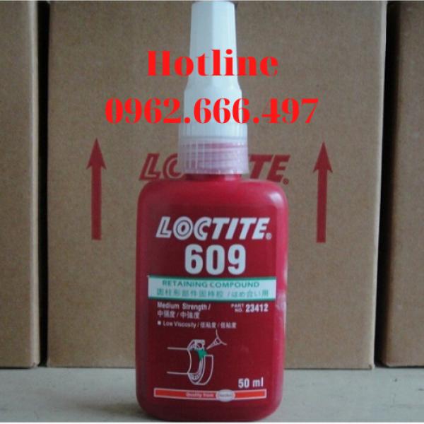 Keo Chống Xoay Loctite 609 - 50ml, Cố định giữa trục và lỗ dùng trong công việc lắp ghép các chi tiết kim loại với nhau