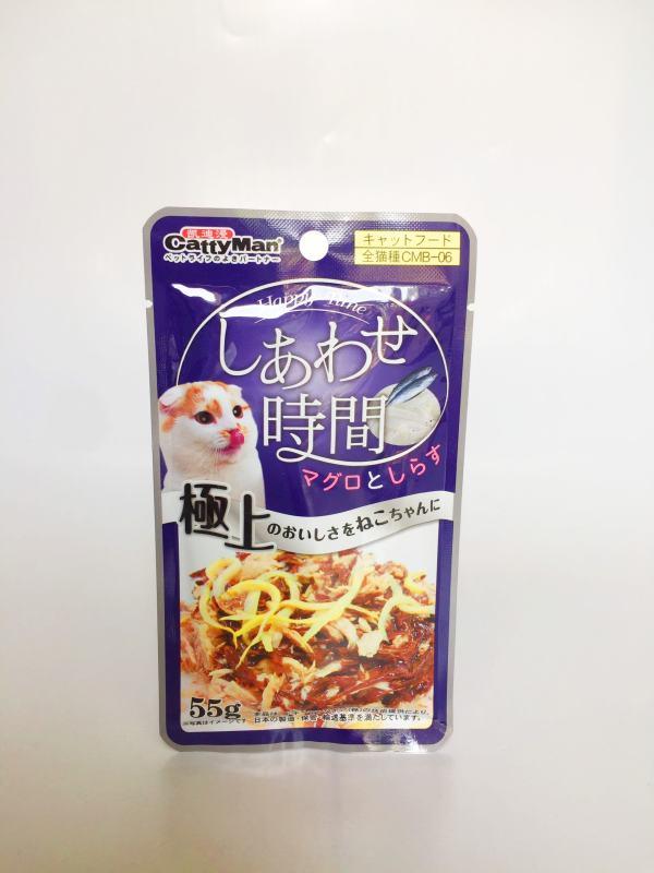 Súp Thưởng Cho Mèo Từ Nhật Bản Cá Thu Và Cá Cơm 55G, 100% thành phần tự nhiên, bổ sung nguồn dinh dưỡng tự nhiên cho mèo - SP000638