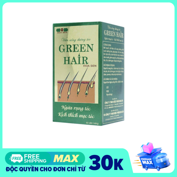 Viên uống ngăn ngừa rụng tóc và kích thích mọc tóc Green Hair - Hộp 60 viên giá rẻ