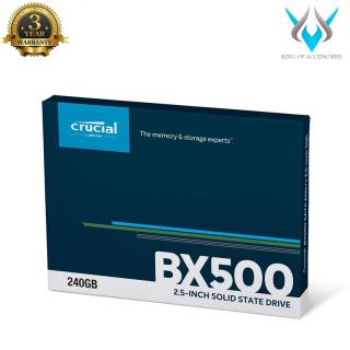 Ổ cứng SSD gắn trong Crucial BX500 3D NAND SATA III 2.5 inch 240GB R540MB s W500GB s (Đen) - Phụ Kiện 1986 thumbnail