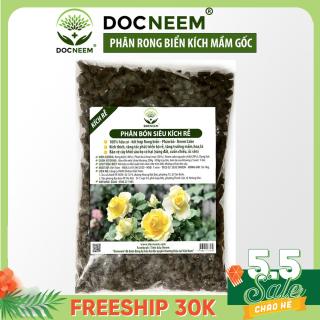 Phân bón rong biển DOCNEEM siêu kích rễ mầm, phân hữu cơ bổ sung Neemcake, phân bò ủ hoai cho hoa, cây cảnh trong nhà ngoài trời, túi 1kg thumbnail