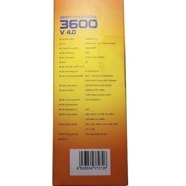 Bảng giá SMART-TV Karaoke 3600 V 4.0