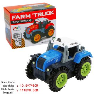 Xe ô tô đồ chơi chạy pin,xe tải nông trại cho bé, chạy bằng pin tiểu (màu xanh bánh xanh -chưa kèm pin) nhựa ABS an toàn thumbnail