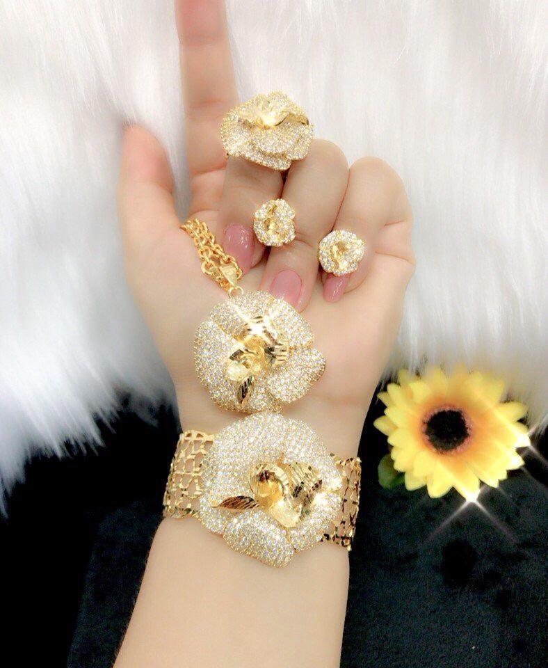 [ TRANG SỨC BỘ HOT 2019 DÙNG ĐI TIỆC - CAM KẾT KHÔNG ĐEN ] đồ trang sức đẹp | trang sức bộ vàng ý | trang sức bộ ngọc trai | trang sức bộ đẹp | bộ trang sức bạc cao cấp | trang sức cả bộ | trang sức bạc cả bộ | bộ trang sức cưới -