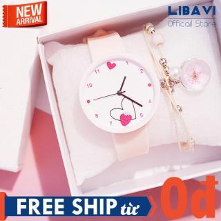 Đồng hồ nữ Candycat C41, đồng hồ mặt tròn, hình trái tim, đồng hồ chạy 3 kim, dây đeo silicon siêu bền, kháng nước, chống trầy nhẹ (4 màu) thumbnail