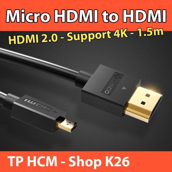 Bảng giá Cáp Chuyển Đổi Micro HDMI Sang HDMI - ORICO Dài 1.5m - Hỗ Trợ 4K 3D Điện máy Pico