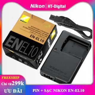 Pin + sạc máy ảnh Nikon EN-EL10 thumbnail