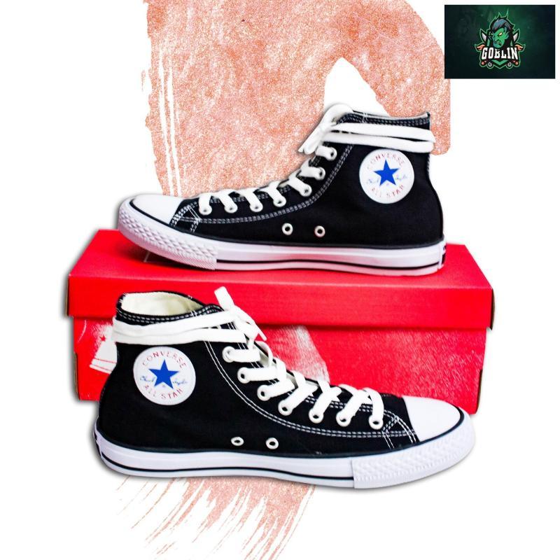 [Có Hộp+tặng Vớ] Giày CONVERSE_CLASSIC cổ cao nam chuẩn Hàng SuperF (Đen)