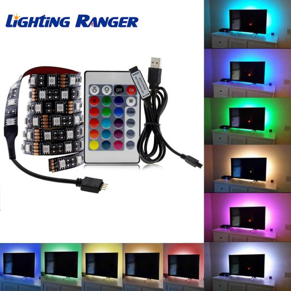 Bảng giá Dây đèn LED 5050 USB RGB TV DC5V dài 1M/2M/3M/4M/5M dùng cho trang trí