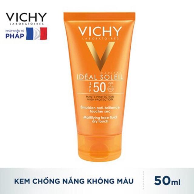 Kem chống nắng VICHY SPF 50 IDEAL SOLEIL EMULSION SPF 50++
