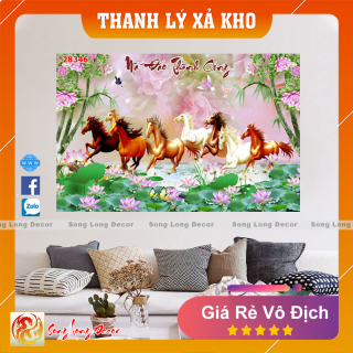 Tranh Dán Tường 3D Mã Đáo Thành Công - 28346 - Tranh 3D Phong Thủy - Giấy dán tường 3d - Song Long Decor thumbnail