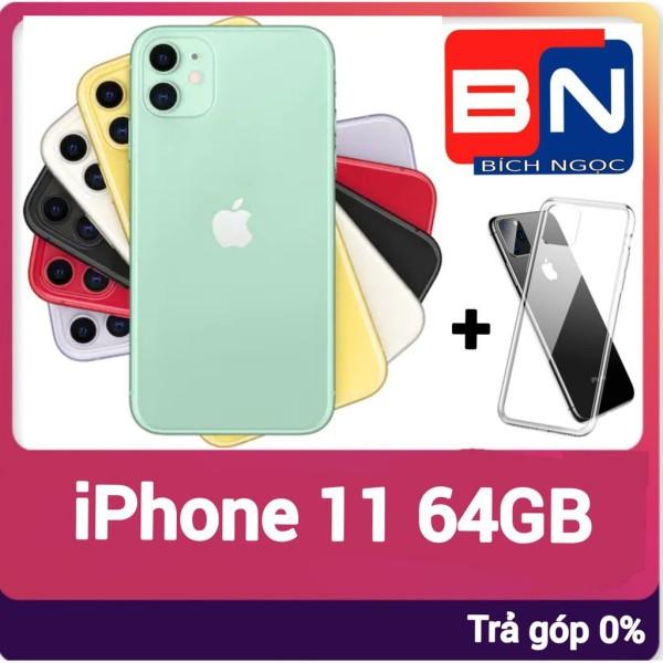 [Trả góp 0%]Điện thoại Apple iPhone 11 bản 64GB + ốp lưng bảo vệ - Hàng mới 100% chưa kích hoạt