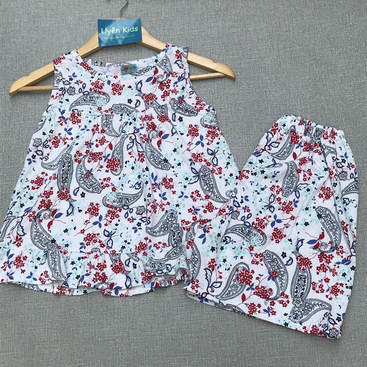 Giá bán Bộ bèo sát nách cho bé gái từ 30-50kg nhiều màu, (bộ bé gái, bộ đồ nữ, bộ mặc nhà)
