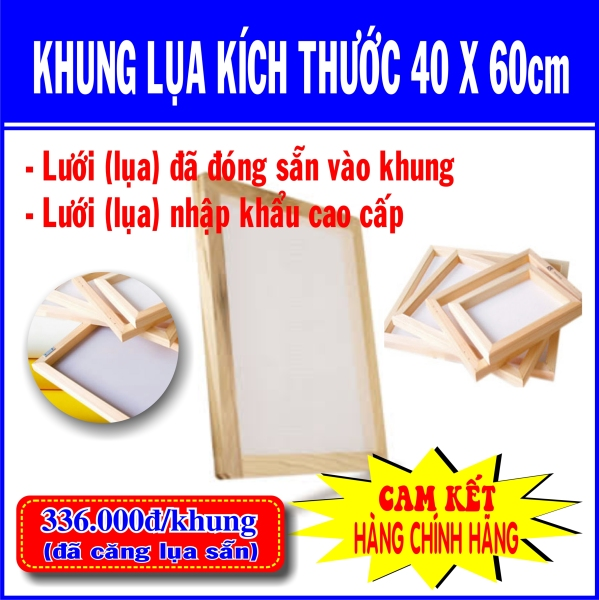 Bảng giá Khung in lụa (40x60cm) - 336k/cái (Sản phẩm đã có lưới) Điện máy Pico