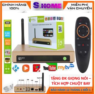 Đầu Android TV Box Kiwi S1 New 2020 Tặng ĐK Giọng nói Xem tv 200 kênh miễn phí  karaoke ram 1G rom 8G Android 7.0-  Hàng Chính Hãng