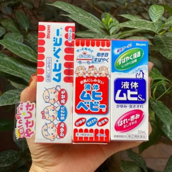Lăn bôi muỗi và côn trùng đốt Muhi 50ml nội địa Nhật