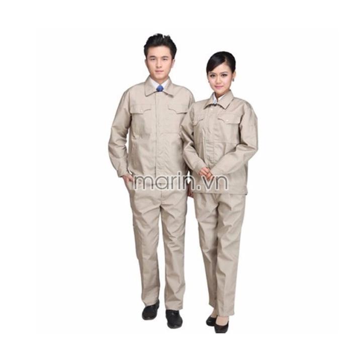 Quần áo bảo hộ lao động kỹ sư màu be vàng
