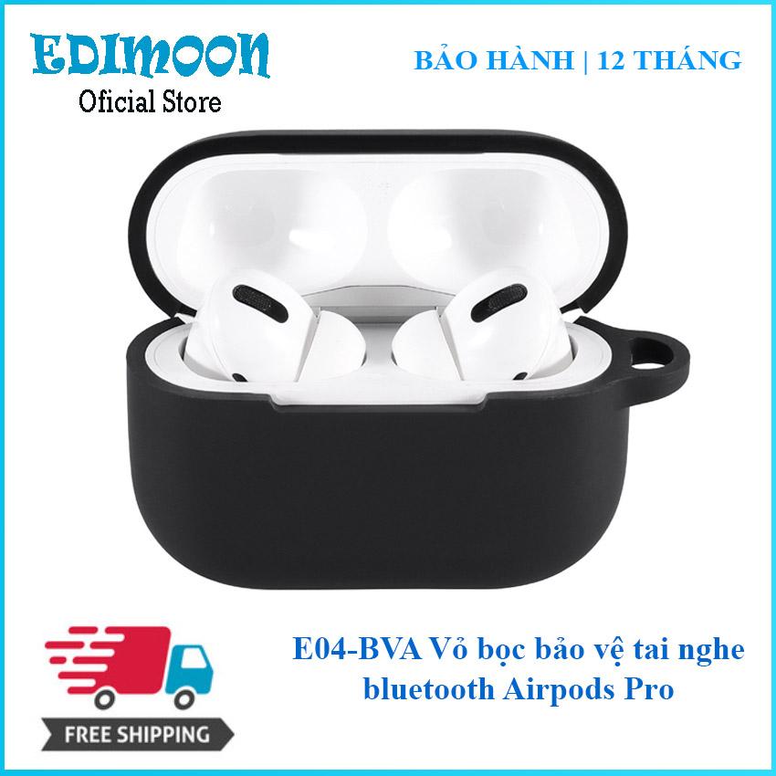 [XẢ KHO 3 NGÀY] Vỏ silicon bọc bảo vệ tai nghe bluetooth Airpods Pro E04BVA Edimoon | HÀNG ĐẸP| Chống sốc, chống xước, chống bụi bẩn
