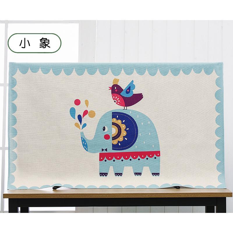 Modern Cotton and linen 50 inch TV cover Hanging Desktop 50 inchTV dustproof cloth 50 inch-Intl