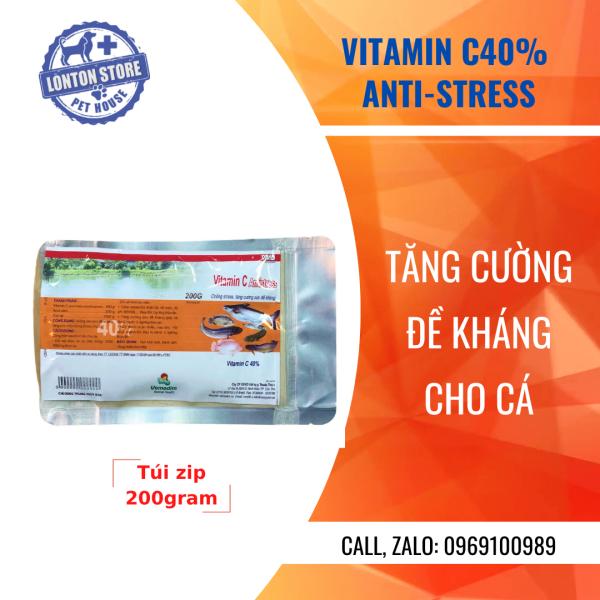 [Dùng thử ] Gói 200gram VEMEDIM Vitamin C 40% cá, chống stress và tăng cường đề kháng cho cá, Lonton shop & Vemedim
