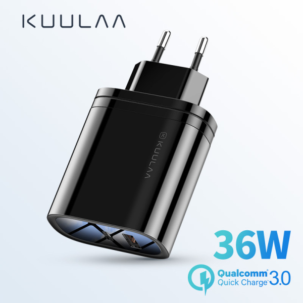 Giá KUULAA Sạc nhanh 36W 4.0 3.0 PD 3.0 Bộ sạc USB Bộ sạc nhanh EU Plug Adaptor Bộ sạc siêu tốc 36W Quick Charge 4.0 3.0 PD 3.0 USB Charger Fast Charger EU Plug Adapter Supercharger cho iPhone X XR XS 8 Xiaomi Mi 9