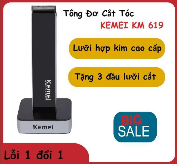 (SALE 50%) Tông Đơ Kemei KM-619 Không Dây Sạc Điện Cắt Tóc,mũi dao cắt sắt, an toàn cho người sử dụng,Tông Đơ Cắt Tóc Trẻ Em Thế Hệ Mới ( bảo hành 12 tháng ) nhập khẩu
