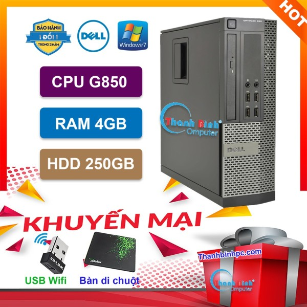 Bảng giá Máy Tính Để Bàn Đồng Bộ Dell Optiplex (Pentium G850 /4G /250G) - Máy Tính Văn Phòng - Bảo Hành 24 Tháng - Tặng USB Wifi Và Bàn Di. Phong Vũ