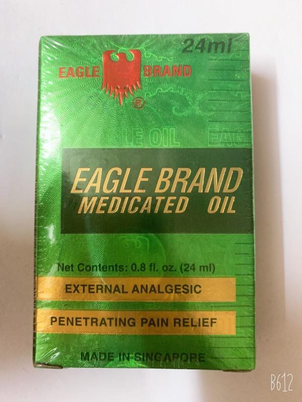 [Mã GDRIBI20 giảm 20k cho đơn hàng từ 150k] Dầu Gió Xanh Hai nắp Eagle Brande Medicated Oil 24ml ( Singapore )