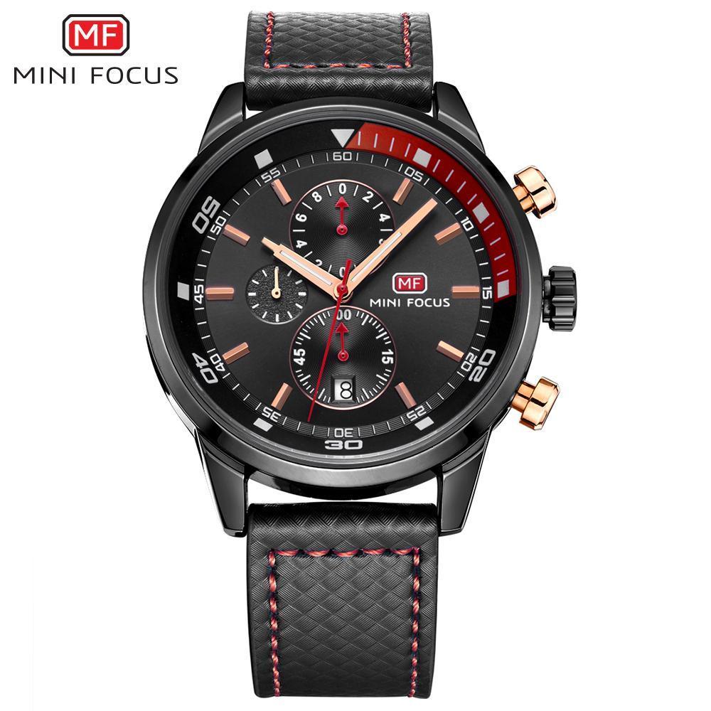 Nơi bán iWATCH-Đồng hồ nam MINI FOCUS dây da cao cấp lịch ngày kiểu dáng trẻ trung năng động IW-MF017