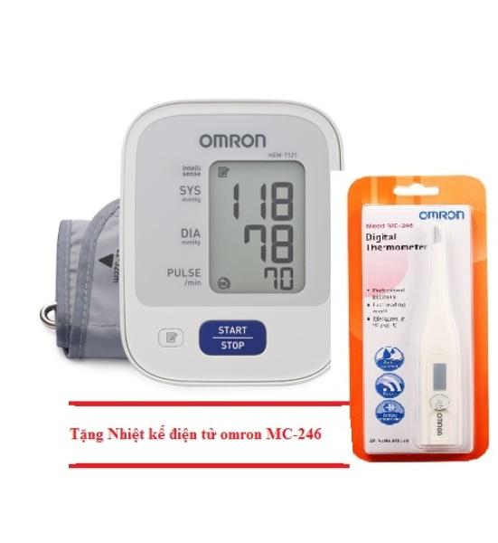 Nơi bán MÁY ĐO HUYẾT ÁP OMRON HEM-7121 + Tặng nhiệ kế điện tử omron MC-246