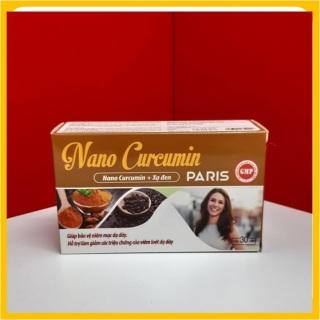 Viên uống giảm viêm loét dạ dày, tá tràng Nano Curcumin Paris Xạ đen, Tam thất - HSD 2023 (Hộp 30 viên) - Chuẩn GMP Bộ y tế thumbnail