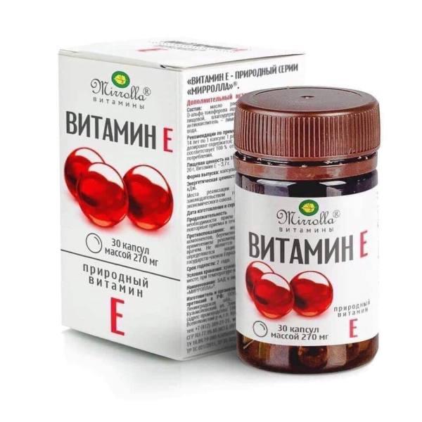 Viên Uống Vitamin E Đỏ Nga Mirrola Dưỡng Da Ngừa Lão Hóa Da 270mg giá rẻ