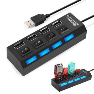 Hub chia cổng USB thành 4 cổng (Đen) thumbnail