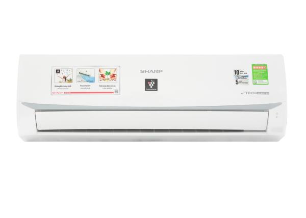 Bảng giá Máy lạnh Sharp Inverter 1 HP AH-XP10WMW-Tiết kiệm điện lên đến 65% nhờ công nghệ J-Tech Inverter và chế độ Eco-Công suất tiêu thụ:0.8 kW/h-Công nghệ kháng khuẩn khử mùi:Công nghệ lọc không khí Plasmacluster ion