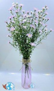 Bình bông lọ hoa thủy tinh Màu cao cấp họa tiết kim cương + Tặng kèm dây sơ dừa trang trí thumbnail