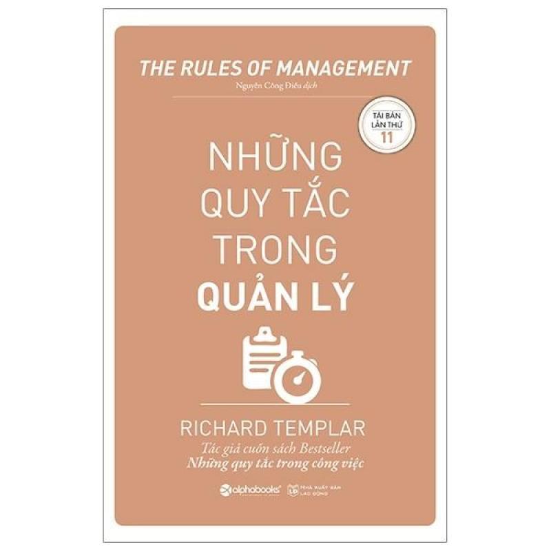 Sách - Những quy tắc trong quản lý [ALPHABOOKS]