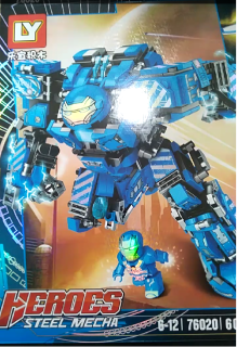 Lego Robot- Lego siêu anh hùng- Lego bé trai-Lego Lắp Ráp Xếp Hình Marvel Mô Hình Robot Hulkbuster Iron Man Xanh MK38 602 Khối LY76020 - Đồ Chơi Trẻ Em-Legoxanh thumbnail