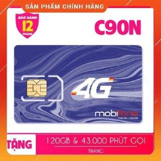 Sim 4G Mobifone C120N tặng 120GB tháng tương đương (4 GB ngày + 1000 phút nội mạng + 50 phút liên mạng) - bảo hành 1 ĐỔI 1 thumbnail
