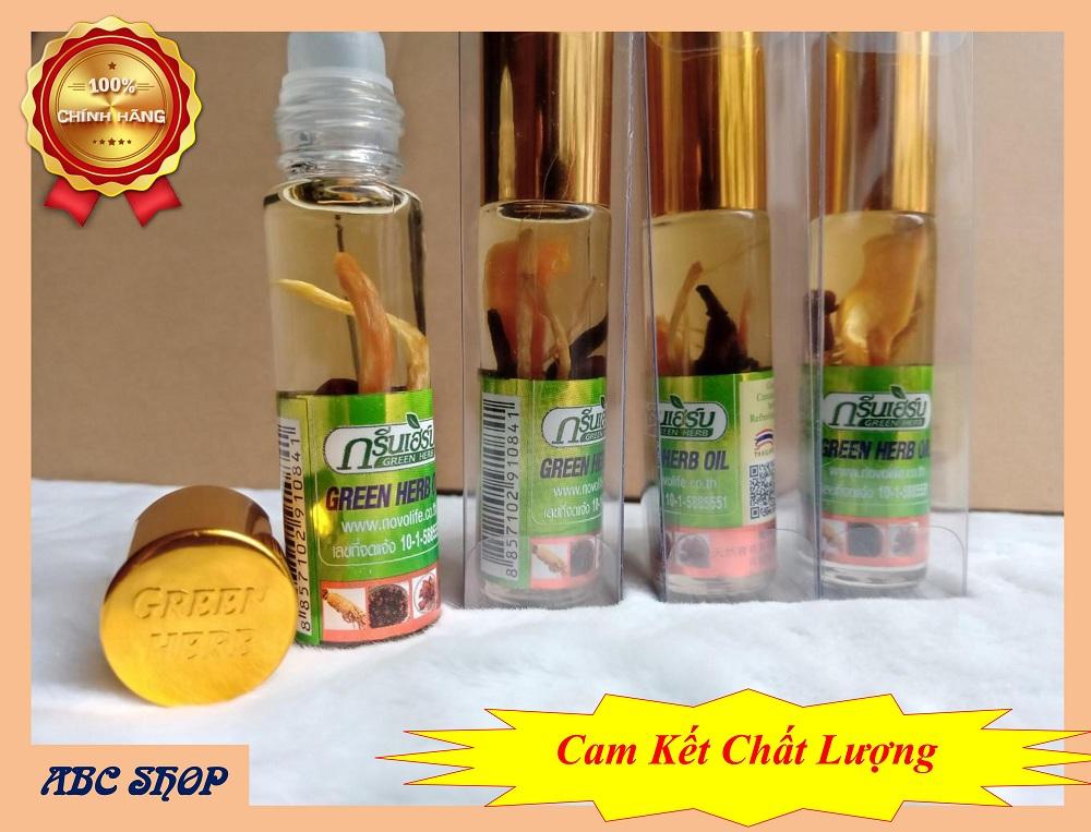 [HOTSale] Lốc 12 Chai Dầu Gió Thái Lan Green Herb Oil  – Dầu Thảo Dược Nhân Sâm – Dầu Lăn Nhân Sâm  – Hàng Chuẩn Rất Thơm (8ml x12)
