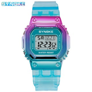 Đồng hồ điện tử thể thao thời trang unisex (nam - nữ) dây nhựa đa sắc Synoke PKHRSNK011 thumbnail