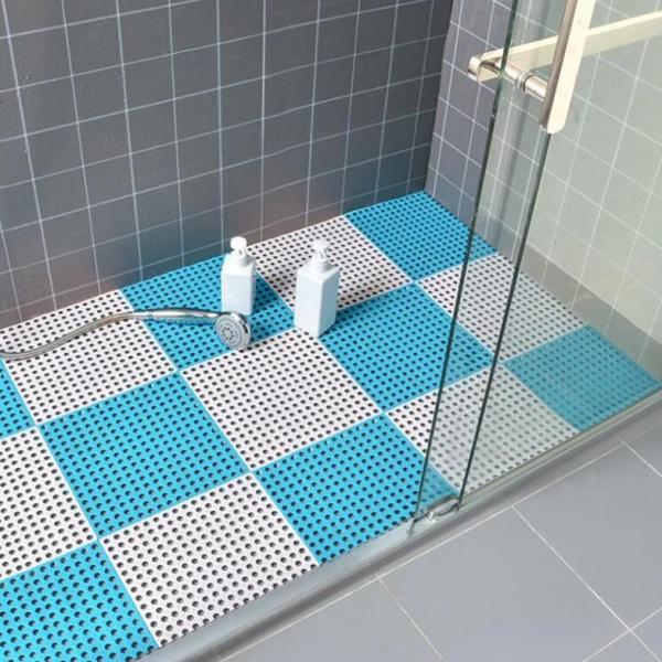 Thảm Nhà Tắm Nhà Bếp Chống Trơn Trượt. Thảm ghép thoát nước rất tốt KT 30x30cm. Thảm lót sàn (1 Miếng), thảm chống trơn nhà tắm