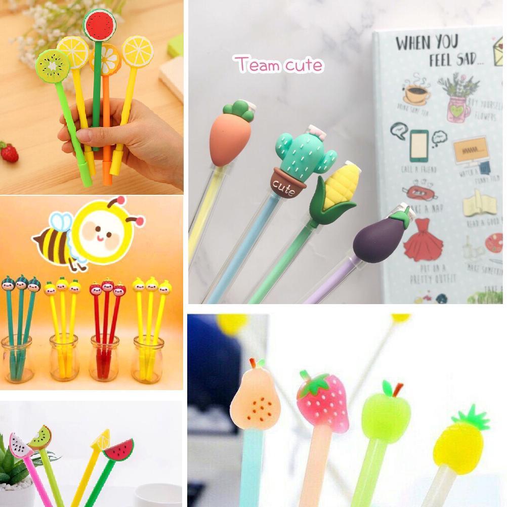 Mua Combo 05 bút bi mực nước hình rau củ trái cây (Bút rau củ quả) - CITA00184 (Fruit Pens)