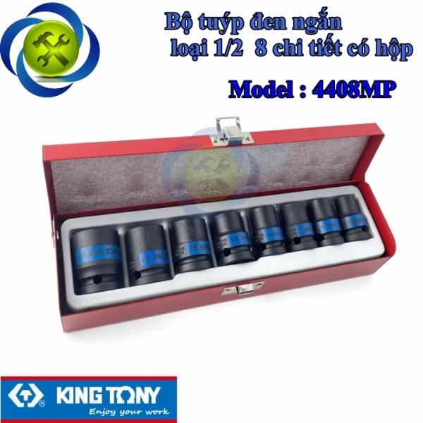 Bộ tuýp đen ngắn loại 1/2 Kingtony 4408MP 8 chi tiết có hộp