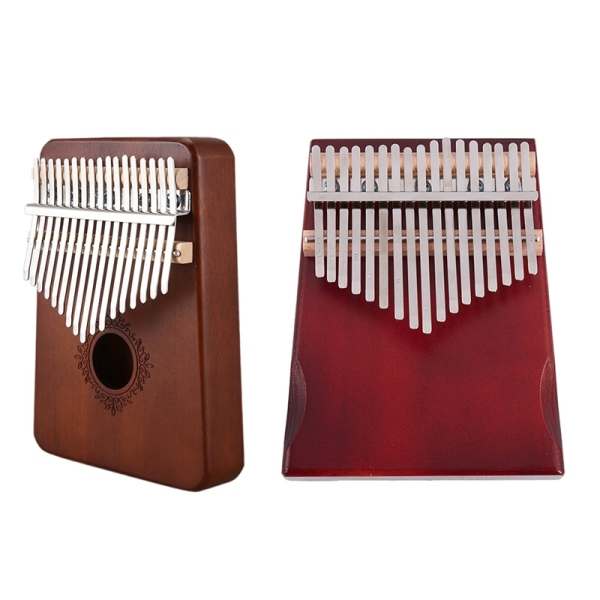 1 Set 17 Keys Kalimba African Thumb Finger Piano Instrument & 1 Set Kalimba Thumb Piano 17 Keys