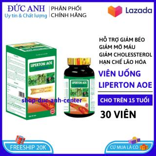 Viên uống Liperton AOE giảm mỡ máu, hỗ trợ giảm béo, giảm cholesterol trong máu lọ 30 viên Hoàn toàn thảo dược thumbnail