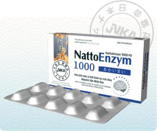 Natto Enzym - Thực phẩm bảo vệ sức khỏe phòng ngừa bệnh lý liên quan đến cục máu đông (Hộp 2 vỉ x 10 viên nang 1000FU) thumbnail