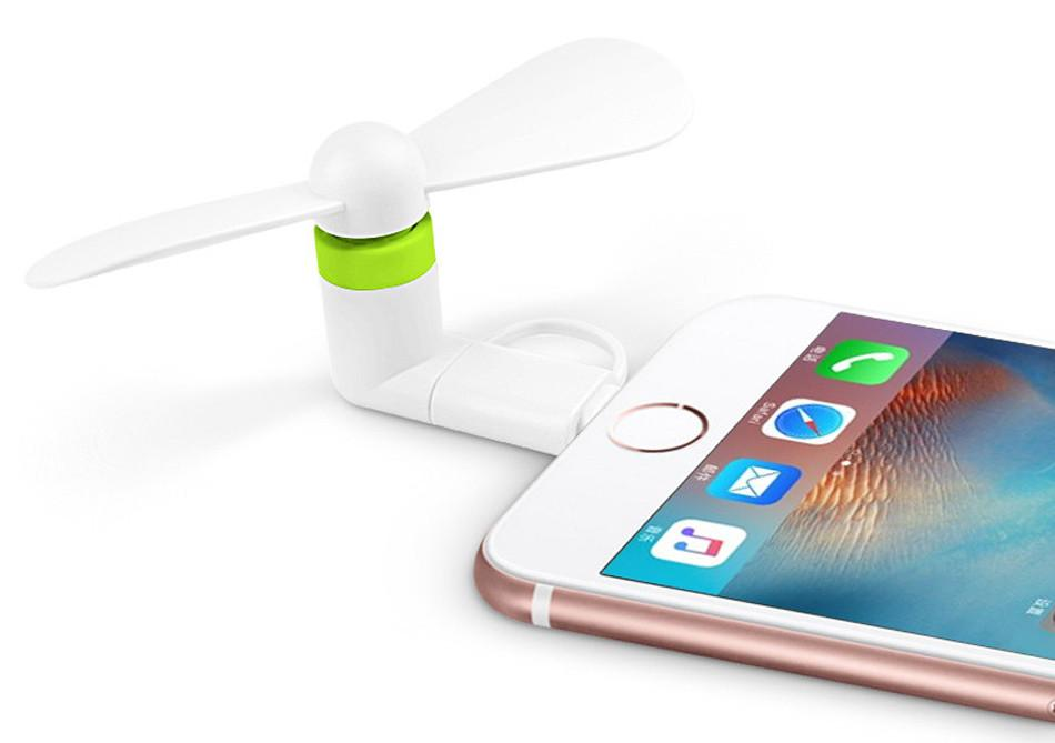 Quạt 2 cánh dùng nguồn dùng cho điện thoại Iphone 5,6,6plus,7plus