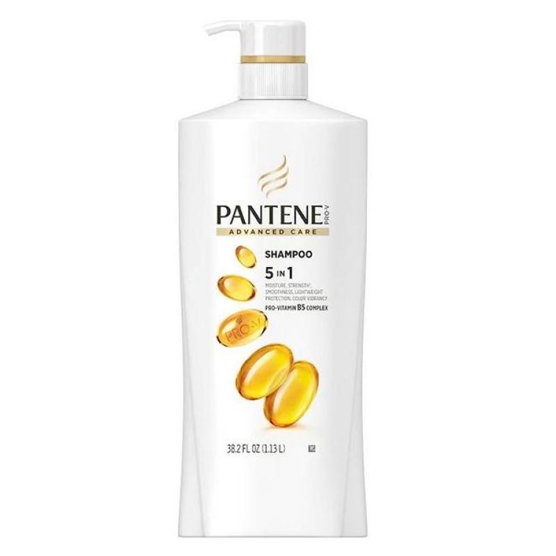 Dầu gội Pantene làm mượt tóc với Pro Vitamin B5 Complex Pantene Advanced Care Shampoo 5 in 1 dung tích 1.13L - Hàng nhập Mỹ đường air giá rẻ