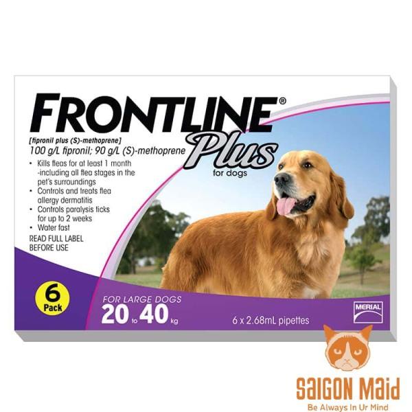 Sản phẩm nhỏ gáy Frontline Plus dành cho chó (20-40kg)